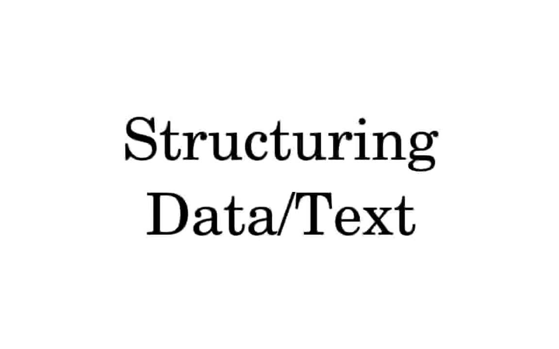 Structuring Data and Text Inline