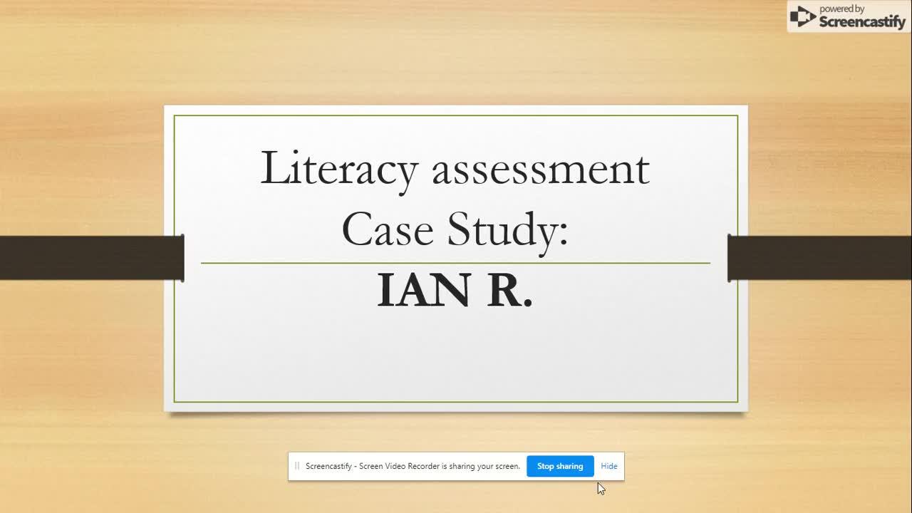 SPED 741 Case Study