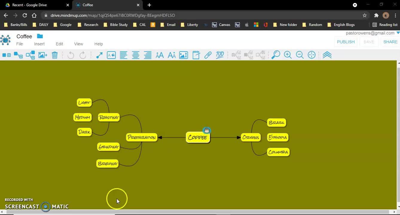 Mindmapping with Mindmup 2.0