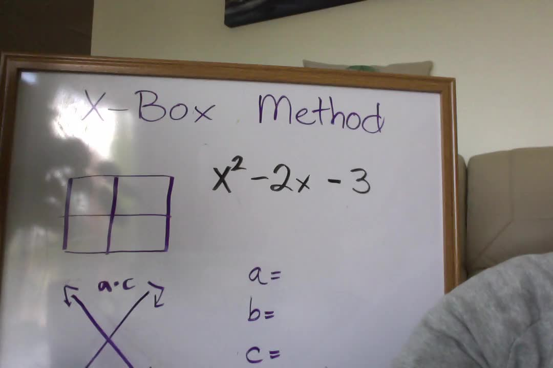 X-Box Method for Factoring a=1
