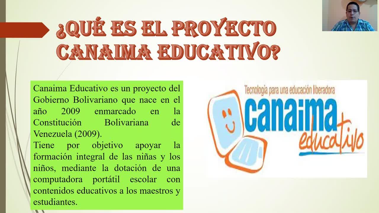 PROYECTO EDUCATIVO CANAIMA