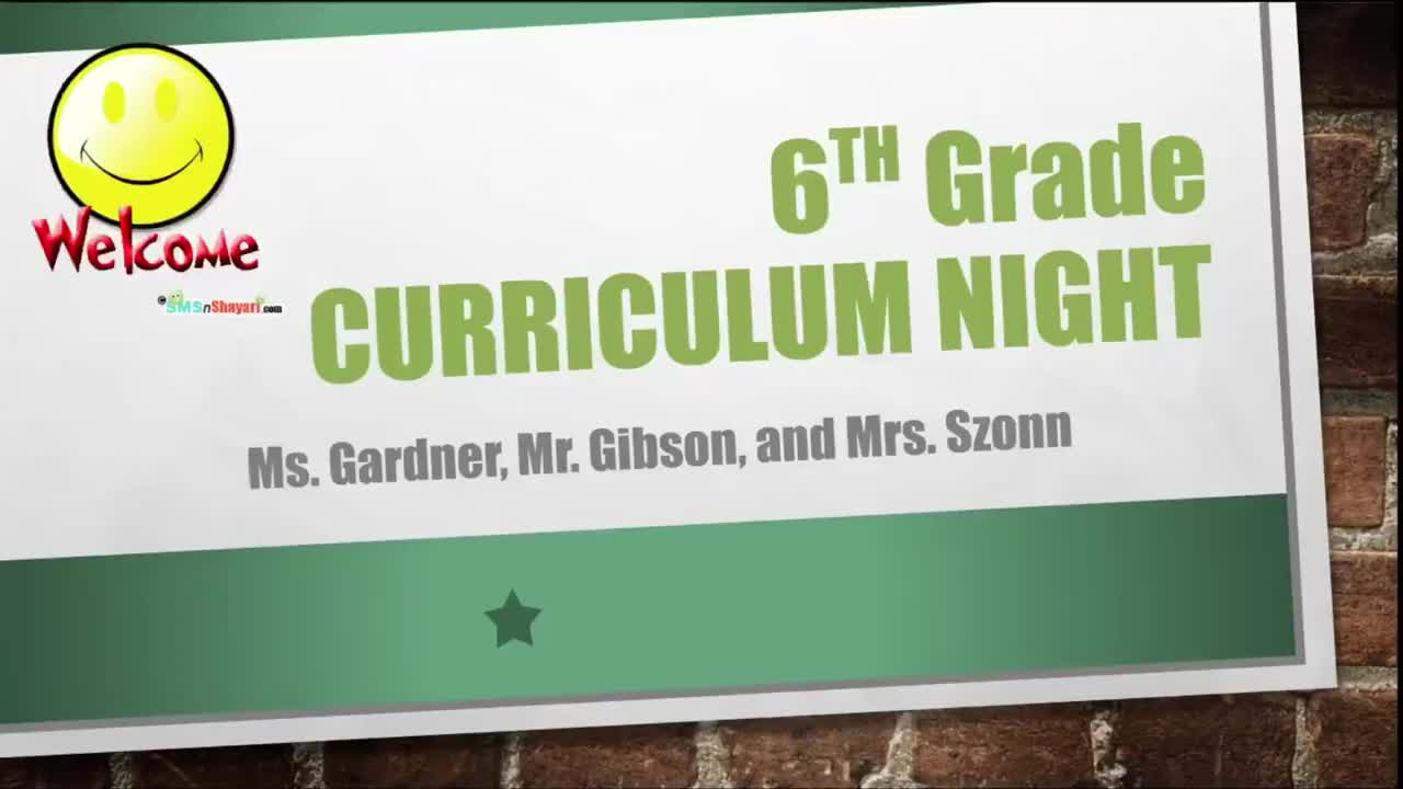 6th Grade Curriculum Video