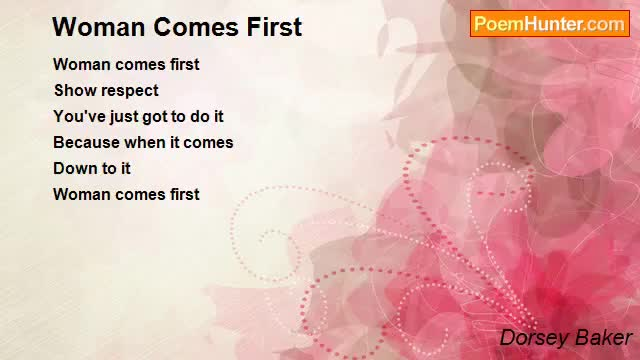 Woman Comes First-My Heart Touching Poem- Alexander Zingman