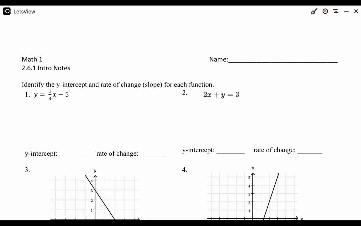 Math 1 - 1.6.1 Notes