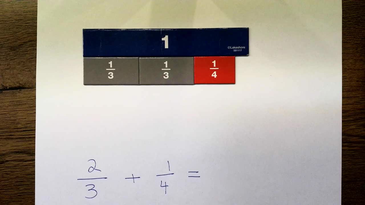 Add & Subtract Fractions: Change Both Denominators-Add-Less Than Whole