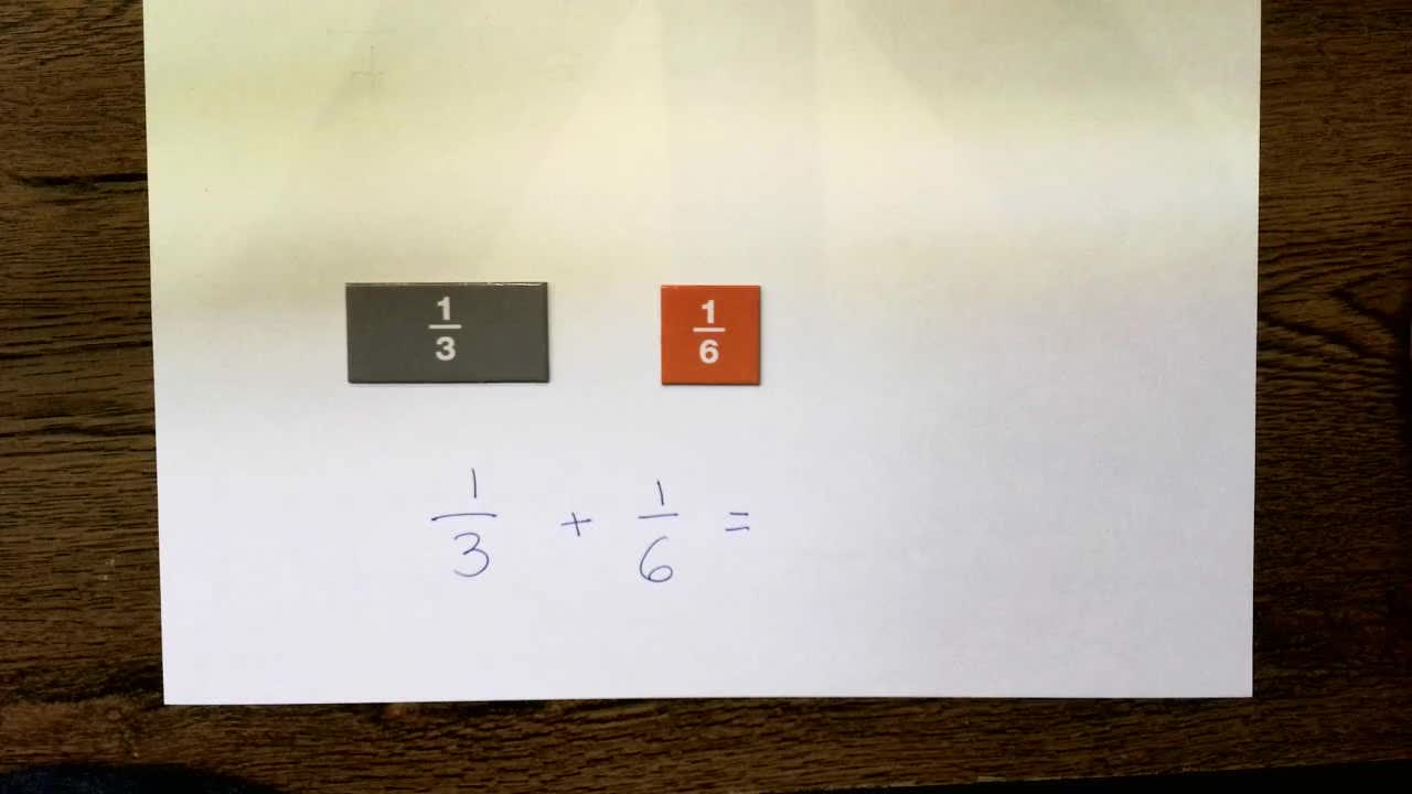 Adding Fractions Less Than Whole by Changing One