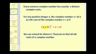 Determining the Nth Roots of a Complex Number