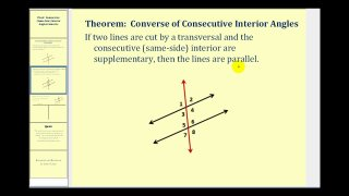 96add6b23172 Proof  Consecutive Interior Angles Converse