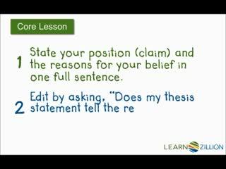 teachertube thesis statement