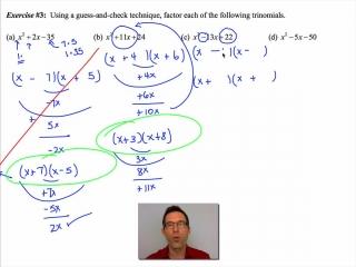 Common Core Algebra II Unit 6 Lesson 3 Factoring Trinomials