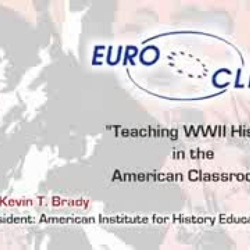Dr. Brady Speaks to European History Teachers
