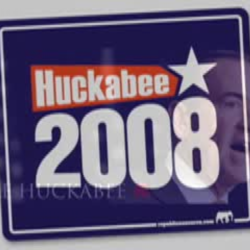 Student created ad for Huckabee