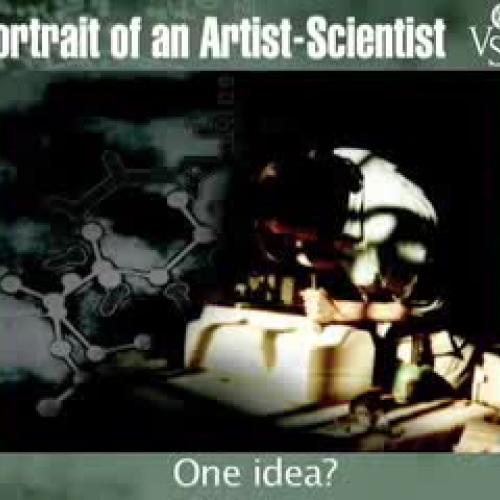 portrait of an artist scientist