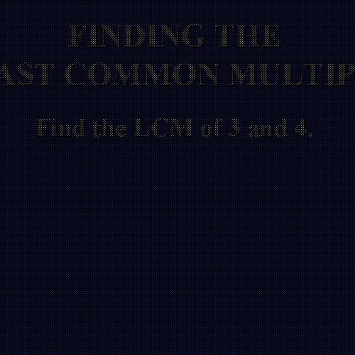 Least Common Multiple - LCM - Math Video Tutorial by Mr Lee