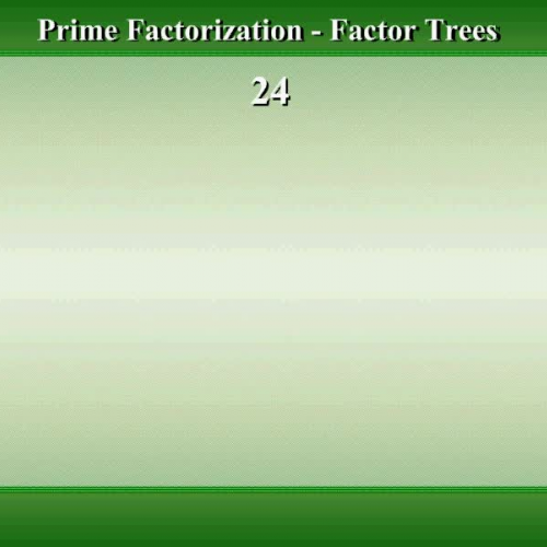 Math Video Tutorial by Mr Lee - Prime Factorization