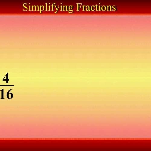 Simpliflying Fractions using GCF-  Math Video Tutorial by Mr Lee