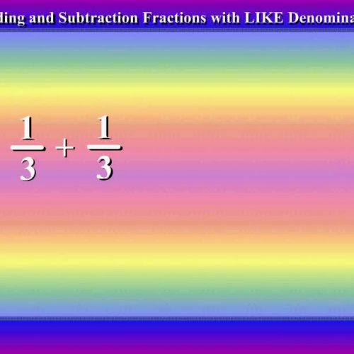 Fractions with LIKE Denominators by Mr Lee -