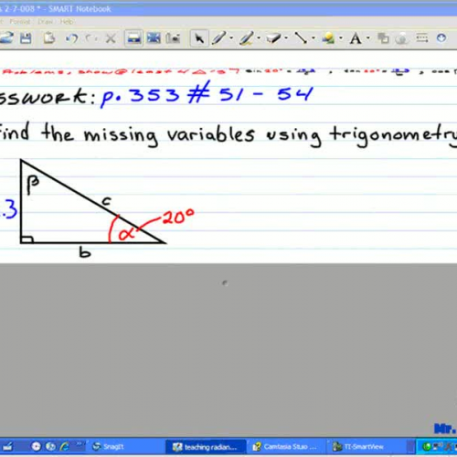Finding Variables with Trigonometry