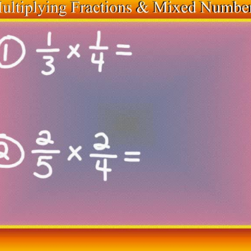 Multiplying Fractions and Mixed Numbers  - Video Tutorial by Mr. Lee