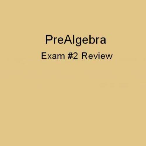 Pre-algebra Exam 2 Review Part 1