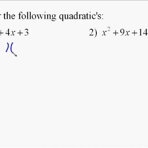 A110.9 Factoring Quadratic Expressions