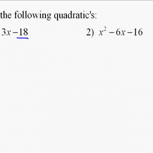 A110.10 Factoring Quadratic Expressions