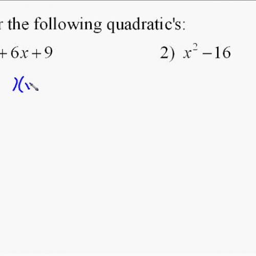 A110.11 Factoring Quadratic Equations