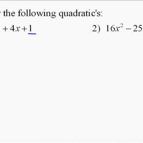 A110.12 Factoring Quadratic Equations