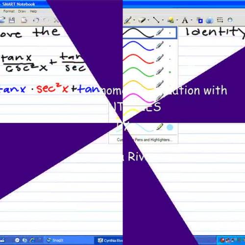 Proving Trigonometric Identities by Cynthia R