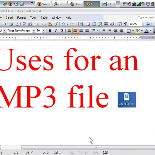 MP3 File Production 1 - Uses for an MP3 File
