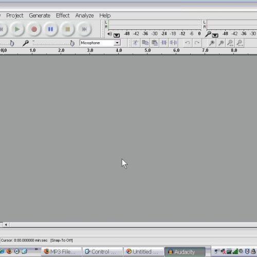 MP3 File Production  4 - Setting Audacity Pre