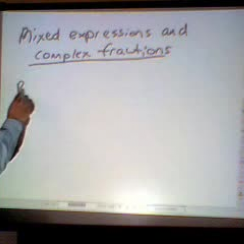 Mixed Expressions and Complex Fractions
