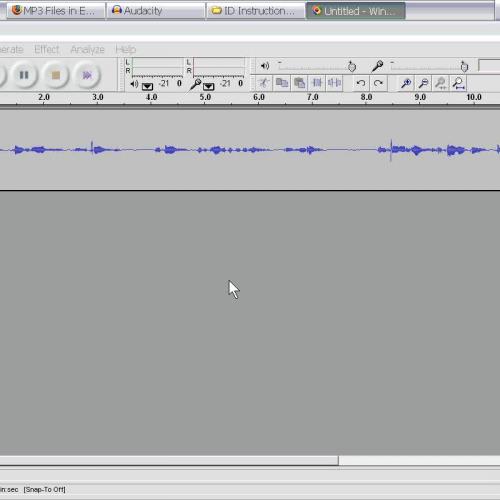 Deleting Audio