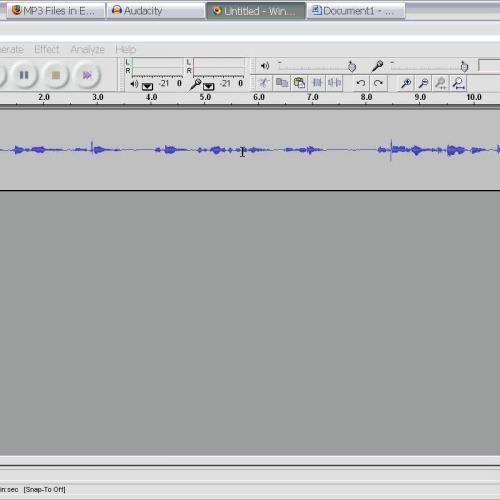Record your Audio - Replacing Audio demonstra