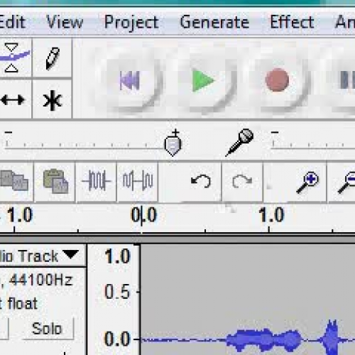 Audacity - deleting part of a track