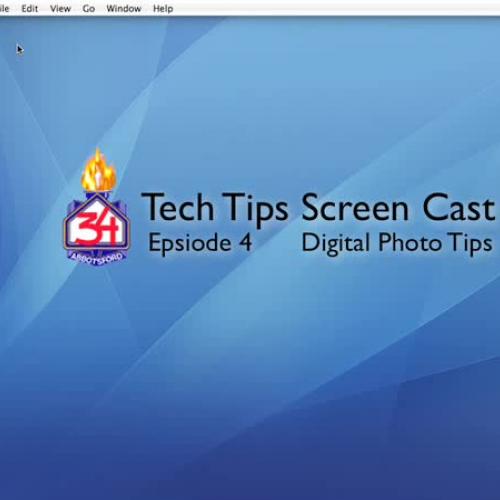 TechTips ScreenCast Episode 4: Photo Tips