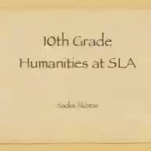Humanities Portfolio
