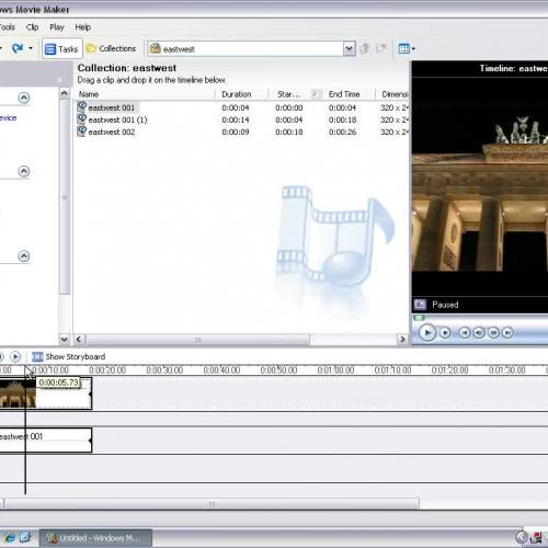 Windows Movie Maker - Video Split