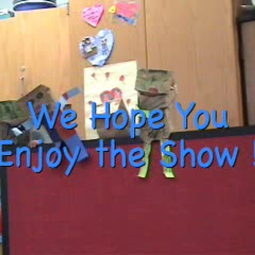 Singing Puppets of First Grade