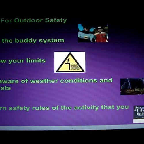 Outdoor Safety - Four Outdoor Rules