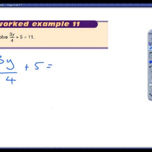 Solving more complex linear equations
