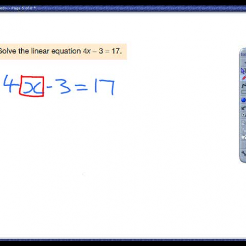 Solving linear equations