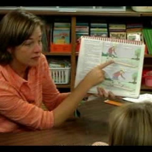Teaching Kindergarten Reading Lesson - Opposi
