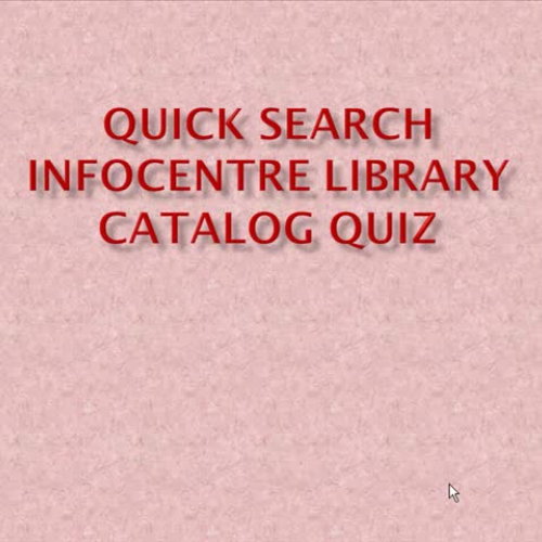 Library Catalog Review