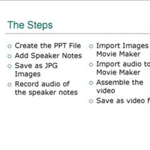 Power Point Images Slide Audio and Movie Make