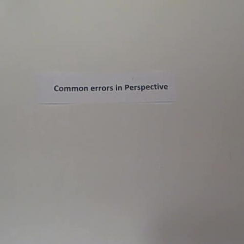 Common errors in drawing perspective