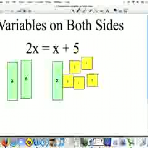 Solving with variables on both sides