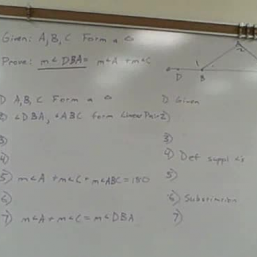 Proving the Exterior Angle Theorem