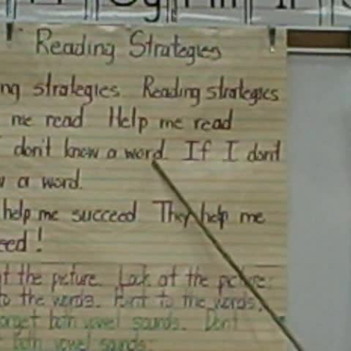 First Grade Reading Strategies Song