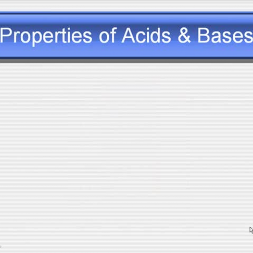 MGM Chemistry 1 Acids and Bases